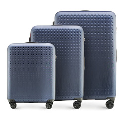 Luggage set, navy blue-red, 56-3A-41S-90, Photo 1
