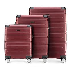 Zestaw walizek, bordowy, 56-3A-44S-35, Zdjęcie 1