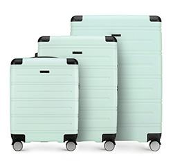 Zestaw walizek, miętowy, 56-3A-44S-95, Zdjęcie 1