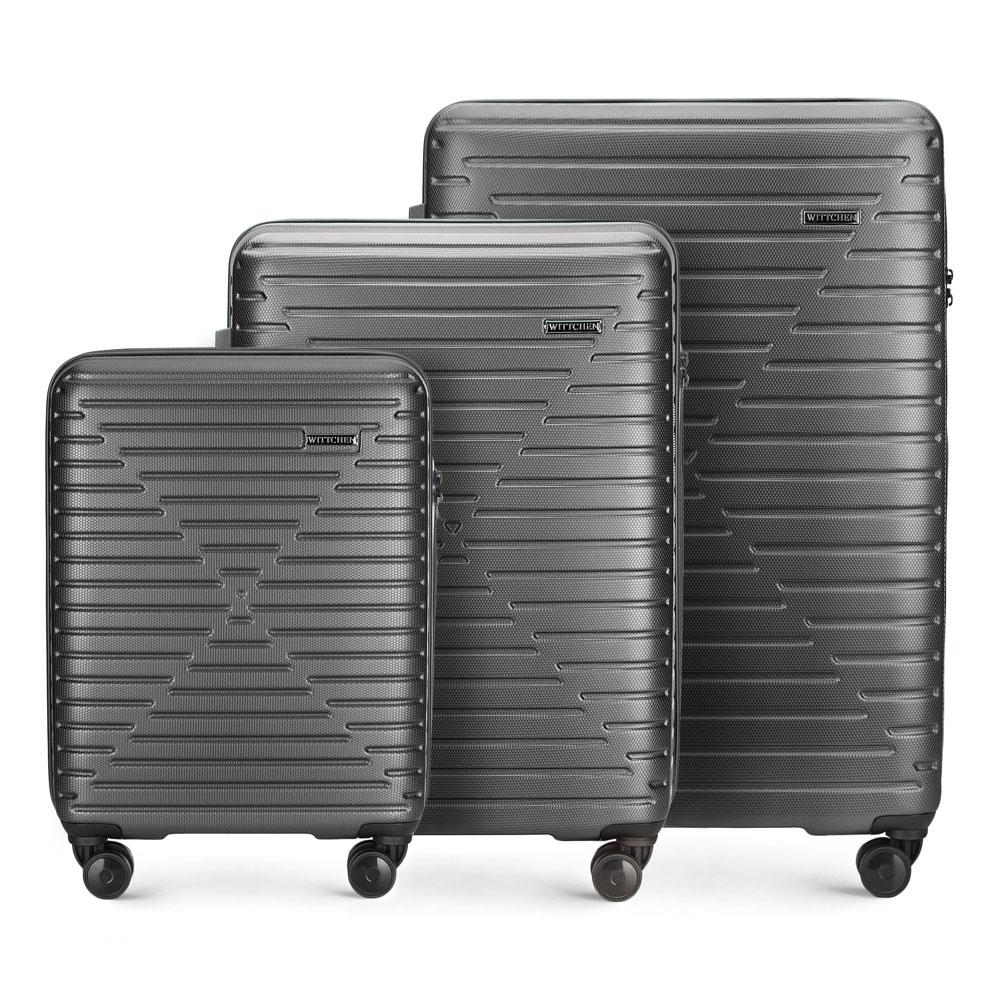 Купить Комплект чемоданов, WITTCHEN, Германия, черный