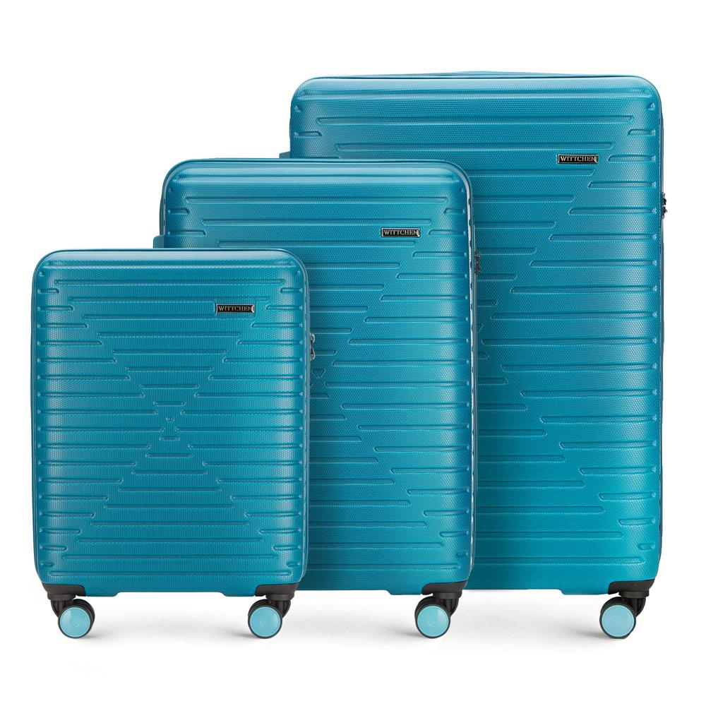 Купить Комплект чемоданов, WITTCHEN, Германия, голубой