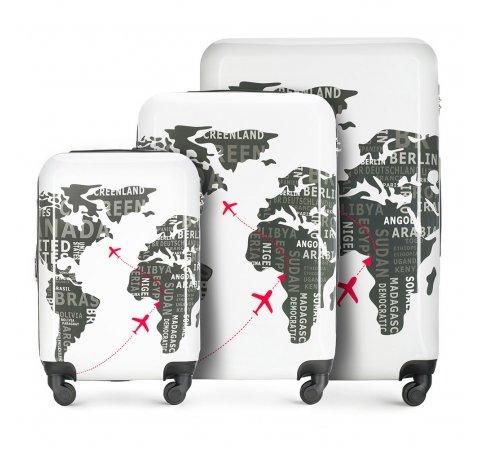 Zestaw walizek, biało - szary, 56-3A-46S-8C, Zdjęcie 1