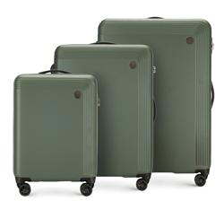 Zestaw walizek, zielony, 56-3A-62S-40, Zdjęcie 1
