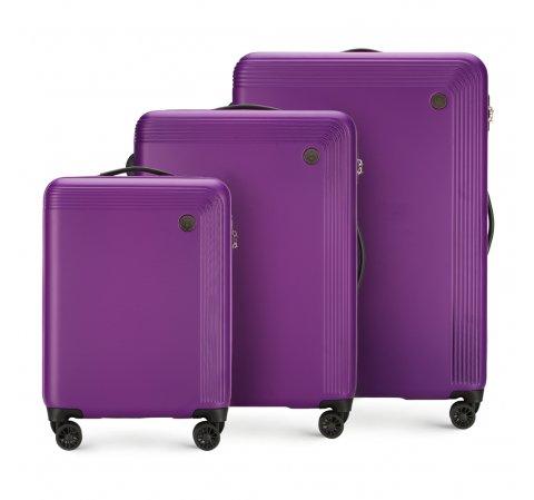 Zestaw walizek, fioletowy, 56-3A-62S-44, Zdjęcie 1