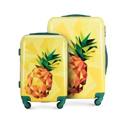 Zestaw walizek z ABS-u nowoczesny, żółty, 56-3A-64S-50, Zdjęcie 1