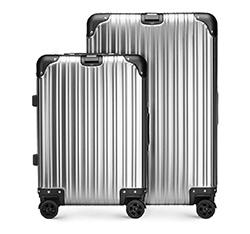 Zestaw walizek, srebrny, 56-3H-10S-11, Zdjęcie 1