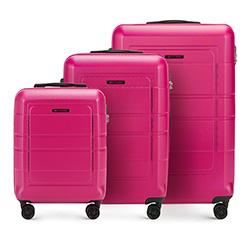 Zestaw walizek, różowy, 56-3H-54S-60, Zdjęcie 1
