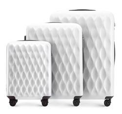 Zestaw walizek, biały, 56-3H-55S-88, Zdjęcie 1