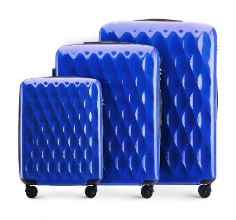 Zestaw walizek, niebieski, 56-3H-55S-90, Zdjęcie 1