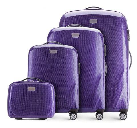 Zestaw walizek, fioletowy, 56-3P-57K-24, Zdjęcie 1