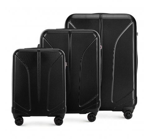 Zestaw walizek, czarny, 56-3P-81S-30, Zdjęcie 1