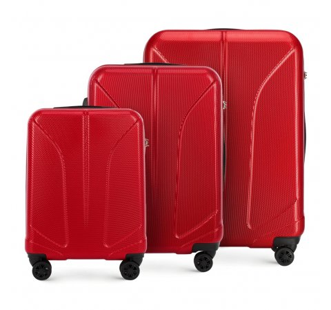 Zestaw walizek, czerwony, 56-3P-81S-90, Zdjęcie 1