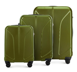 Zestaw walizek, zielony, 56-3P-81S-80, Zdjęcie 1