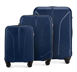 Zestaw walizek, granatowy, 56-3P-81S-90, Zdjęcie 1