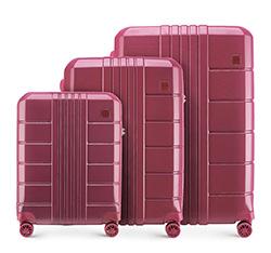 Zestaw walizek, zgaszony czerwony, 56-3P-82S-35, Zdjęcie 1