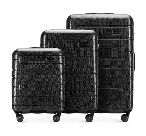 Zestaw walizek, czarny, 56-3P-83S-10, Zdjęcie 1