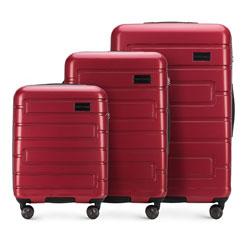 Zestaw walizek, czerwony, 56-3P-83S-30, Zdjęcie 1