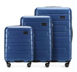 Zestaw walizek, granatowy, 56-3P-83S-90, Zdjęcie 1