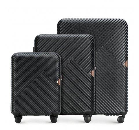Zestaw walizek, czarny, 56-3P-84S-88, Zdjęcie 1