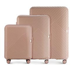 Zestaw walizek, pudrowy róż, 56-3P-84S-77, Zdjęcie 1