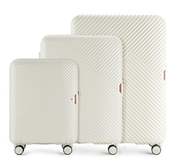 LUGGAGE SET, white, 56-3P-84S-88, Photo 1