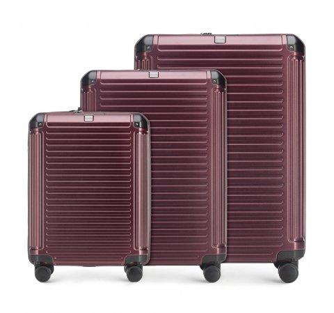 Zestaw walizek, burgund, 56-3P-85S-35, Zdjęcie 1