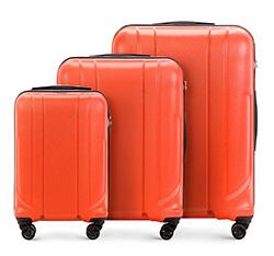 Zestaw walizek, pomarańczowy, 56-3P-86S-55, Zdjęcie 1
