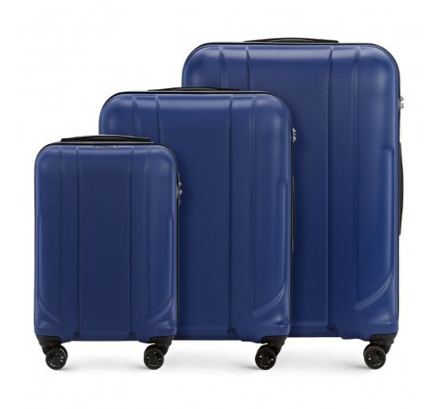 Zestaw walizek, granatowy, 56-3P-86S-90, Zdjęcie 1