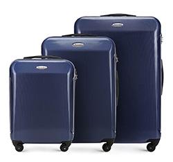 Zestaw walizek, granatowy, 56-3P-87S-90, Zdjęcie 1