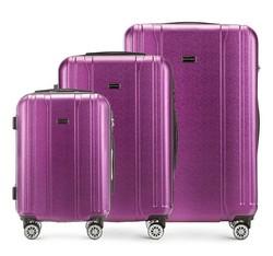 Zestaw walizek, fioletowy, 56-3P-89S-24, Zdjęcie 1
