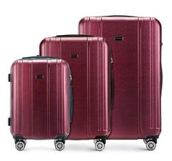 Zestaw walizek, bordowy, 56-3P-89S-30, Zdjęcie 1