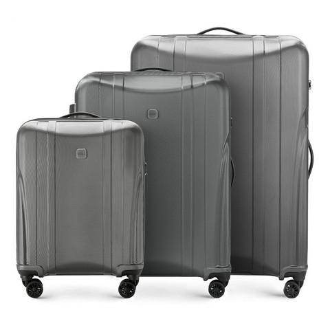 Zestaw walizek, grafitowy, 56-3P-91S-10, Zdjęcie 1