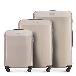 Zestaw walizek, beżowy, 56-3P-97S-81, Zdjęcie 1