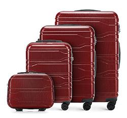 Zestaw walizek, bordowy, 56-3P-98K-30, Zdjęcie 1