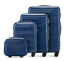 Zestaw walizek, granatowy, 56-3P-98K-90, Zdjęcie 1