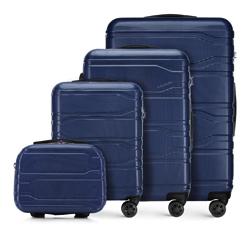 Zestaw walizek, granatowy, 56-3P-98K-91, Zdjęcie 1