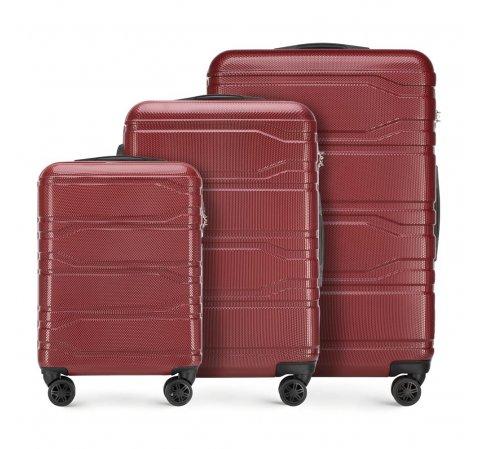 Zestaw walizek, czerwony, 56-3P-98S-31, Zdjęcie 1