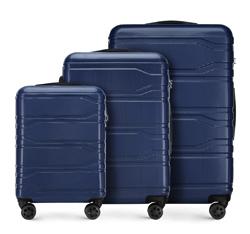 Zestaw walizek, granatowy, 56-3P-98S-91, Zdjęcie 1
