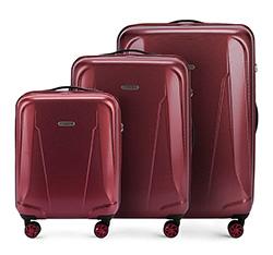 Zestaw walizek, bordowy, 56-3P-99S-30, Zdjęcie 1