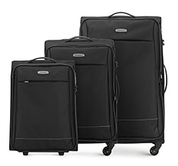Zestaw walizek, czarno - szary, 56-3S-46S-11, Zdjęcie 1
