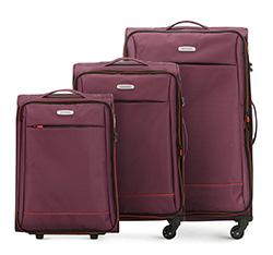 Zestaw walizek, burgund, 56-3S-46S-35, Zdjęcie 1