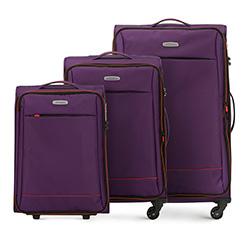 Zestaw walizek, fioletowo - pomarańczowy, 56-3S-46S-44, Zdjęcie 1