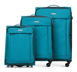 Zestaw walizek, turkusowy, 56-3S-46S-95, Zdjęcie 1