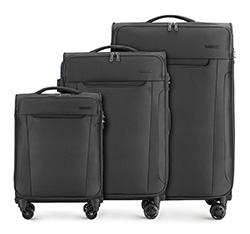 Zestaw walizek, czarny, 56-3S-56S-10, Zdjęcie 1