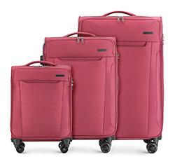 Zestaw walizek, bordowy, 56-3S-56S-35, Zdjęcie 1