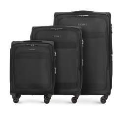 Zestaw walizek, czarny, 56-3S-58S-10, Zdjęcie 1