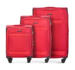 Zestaw walizek, czerwony, 56-3S-58S-30, Zdjęcie 1
