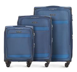 Zestaw walizek, granatowy, 56-3S-58S-90, Zdjęcie 1
