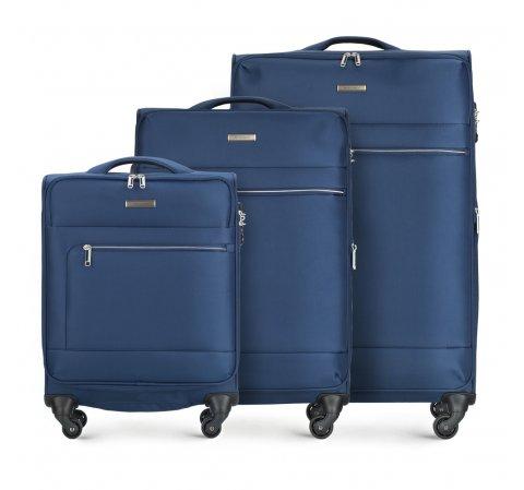 Zestaw walizek, granatowy, 56-3S-62S-90, Zdjęcie 1