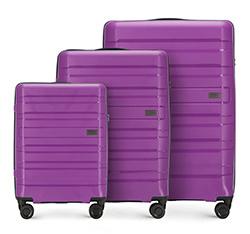 Zestaw walizek, fioletowy, 56-3T-75S-24, Zdjęcie 1